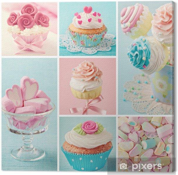 Obraz na płótnie Pastelowe kolorowe słodycze - Style