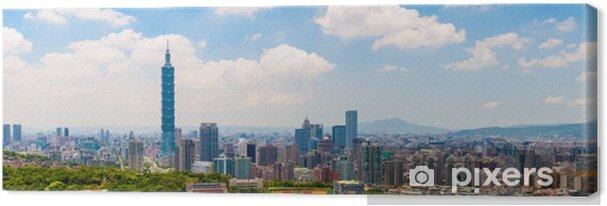 Obraz na płótnie Pejzaż z Tajpej pod błękitne niebo - Azja