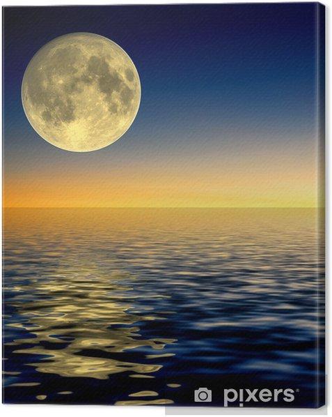 Obraz na płótnie Pełne odbicie księżyca - Tematy