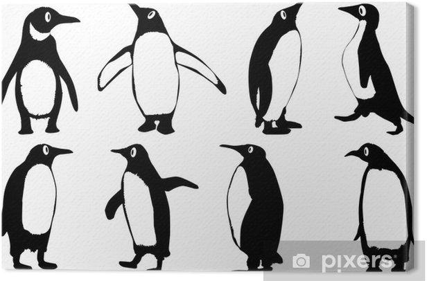 Obraz na płótnie Penguins Cartoon - Ptaki