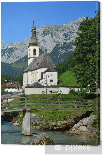 Obraz na płótnie Pfarrkirche St sebastian, Ramsau - Europa