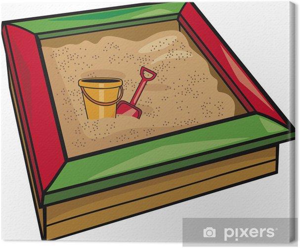 Obraz na płótnie Piaskownica z zabawkami - Gry