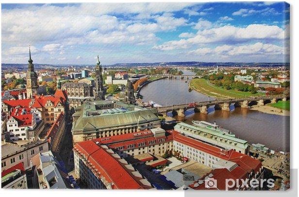 Obraz na płótnie Piękna Drezno, Niemcy. widok panoramiczny - Europa