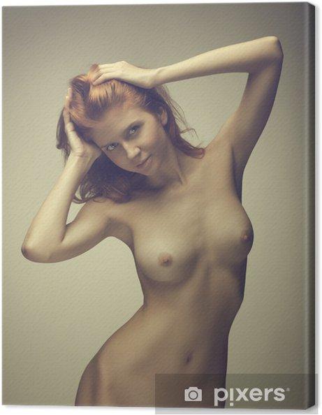 Obraz na płótnie Piękna dziewczyna stwarzających nagie - Akty żeńskie