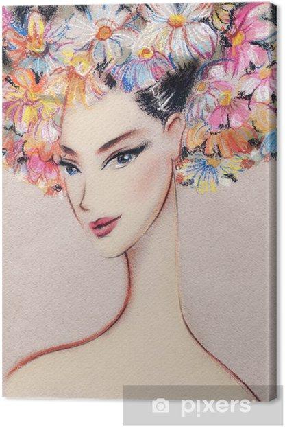 Obraz na płótnie Piękna ilustracja kobieta - Kobiety