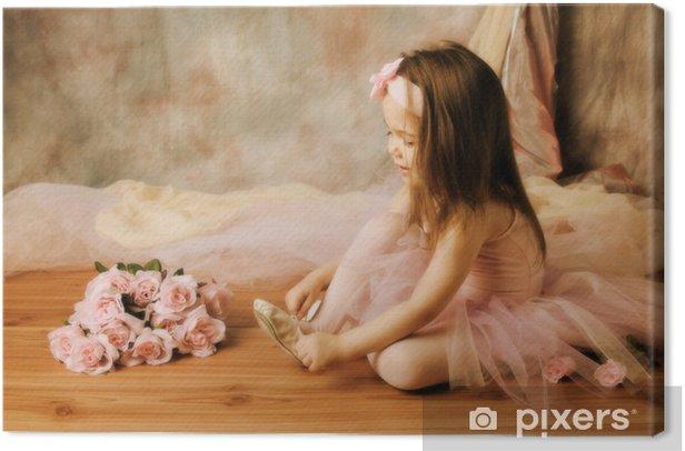 Obraz na płótnie Piękna mała baletnica - Dzieci