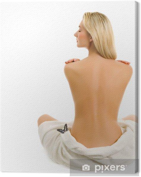 Obraz na płótnie Piękna młoda naga kobieta na białym tle - Zdrowie i medycyna