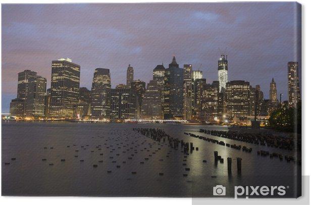 Obraz na płótnie Piękna noc w Nowym Jorku - Ameryka