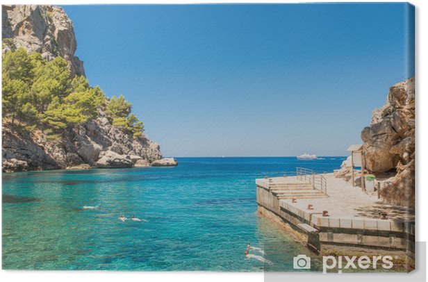 Obraz na płótnie Piękna plaża lagoon przylądek Formentor - Europa