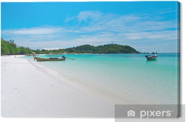 Obraz na płótnie Piękna plaża na Koh Lipe, Andaman morza, Tajlandia - Woda