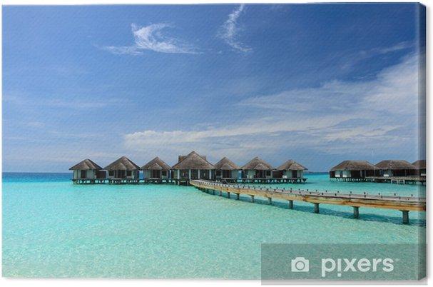 Obraz na płótnie Piękna plaża z wody bungalowów - Wakacje