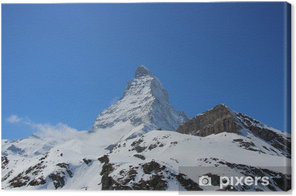 Obraz na płótnie Piękna snosnow ograniczona Matterhorn - Góry