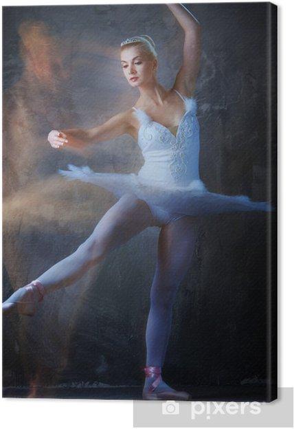 Obraz na płótnie Piękna tancerka baletowa w ruchu .. - Kobiety