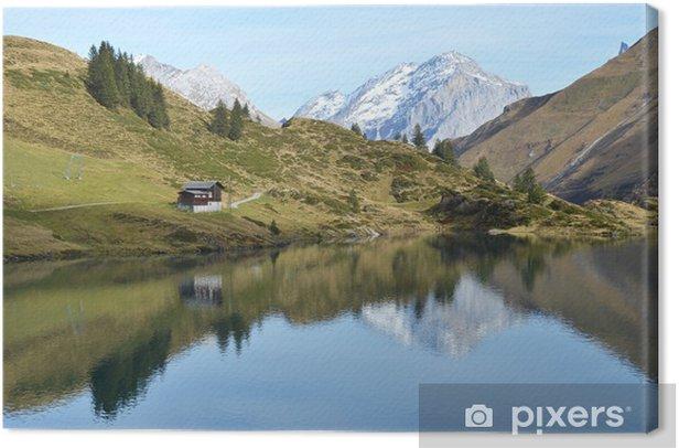 Obraz na płótnie Piękne górskie jezioro. Szwajcaria - Woda