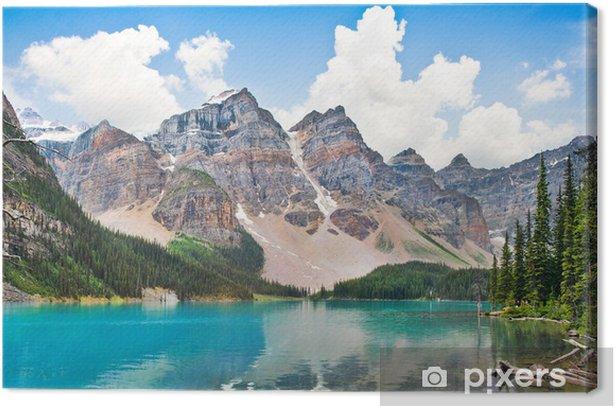 Obraz na płótnie Piękne Jezioro Moraine z Gór Skalistych w Albercie, Kanada - Tematy