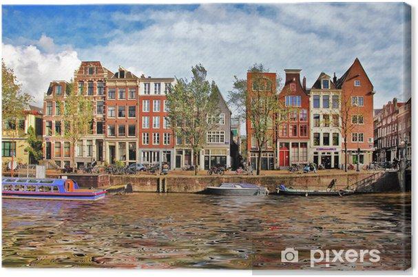 Obraz na płótnie Piękne Kanały Amsterdam - Miasta europejskie