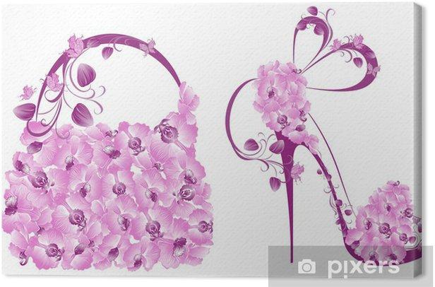 Obraz na płótnie Piękne kobiety buty i torebki - Moda