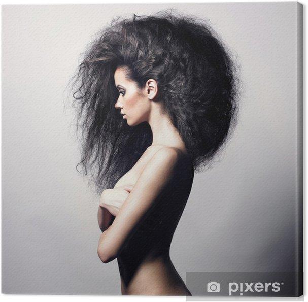 Obraz na płótnie Piękne kobiety z wspaniałe włosy - Moda