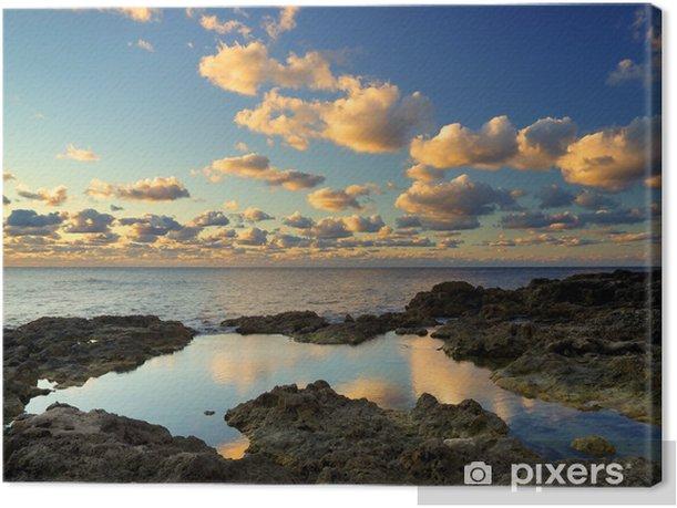 Obraz na płótnie Piękne krajobraz podczas zachodu słońca - Wakacje