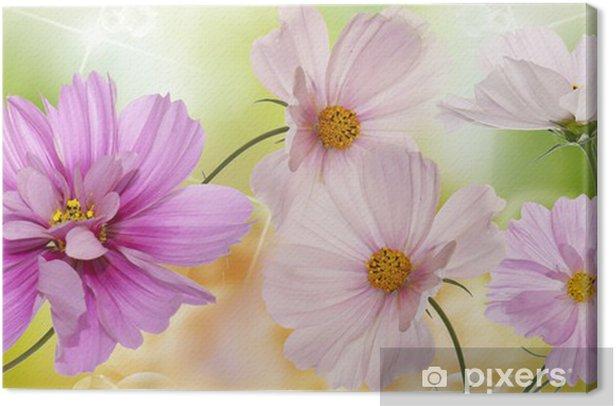 Obraz na płótnie Piękne kwiaty na tle abstrakcyjna wiosny charakter - Kwiaty