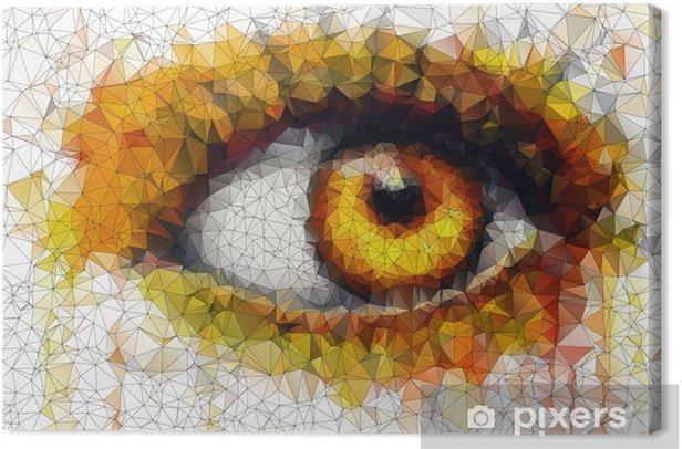 Obraz na płótnie Piękne oczy w geometryczne stylizacji abstrakcyjne geometryczne tle - Abstrakcja
