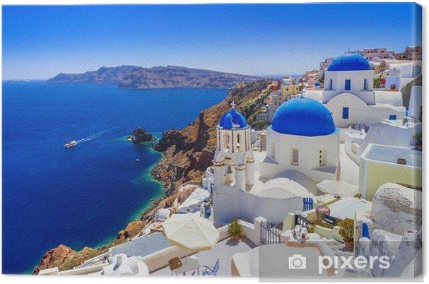 Obraz na płótnie Piękne oia miasto na wyspie santorini, Grecja - Podróże