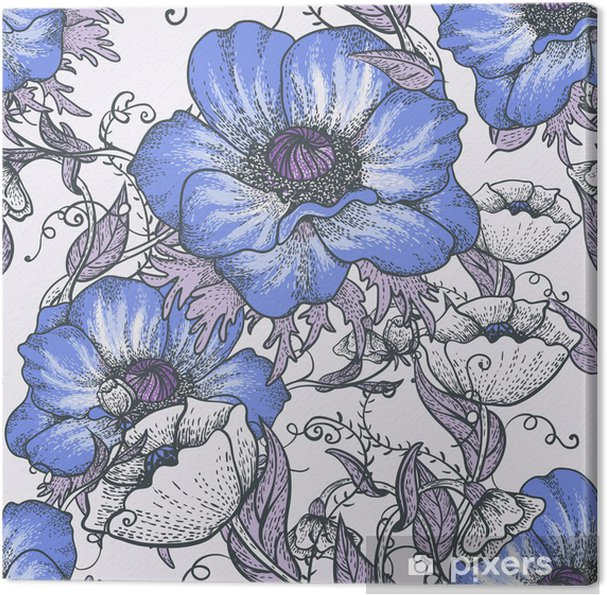 Obraz na płótnie Piękne tła bez szwu kwiatowy -