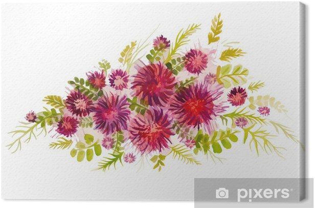Obraz na płótnie Piękny bukiet czerwonych kwiatów - Sztuka i twórczość