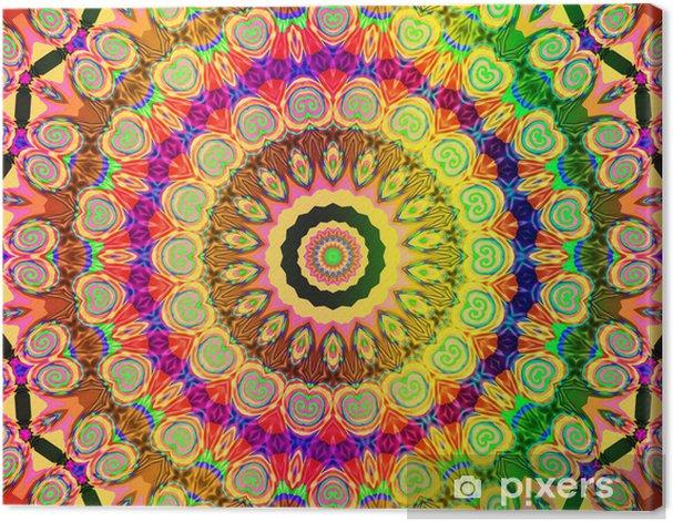 Obraz na płótnie Piękny kolorowy mandala - Style