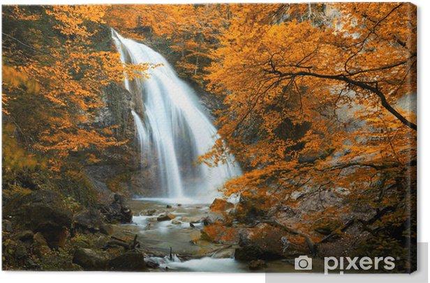 Obraz na płótnie Piękny wodospad. Jesień - Tematy