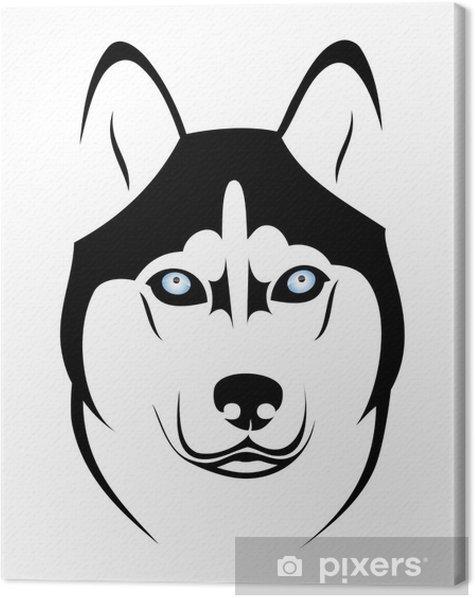 Obraz na płótnie Pies husky - Psy