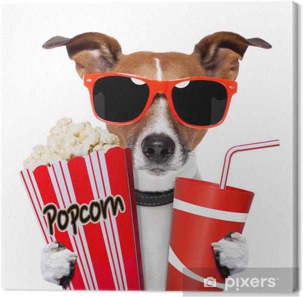 Obraz na płótnie Pies oglądania filmu - Naklejki na ścianę