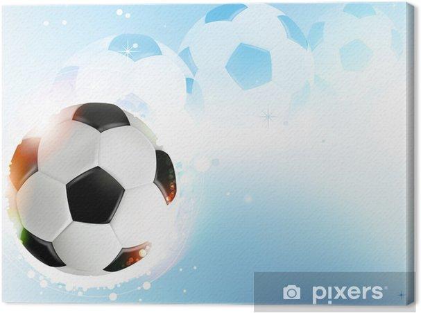 Obraz na płótnie Piłka nożna na niebieskim tle - Tła