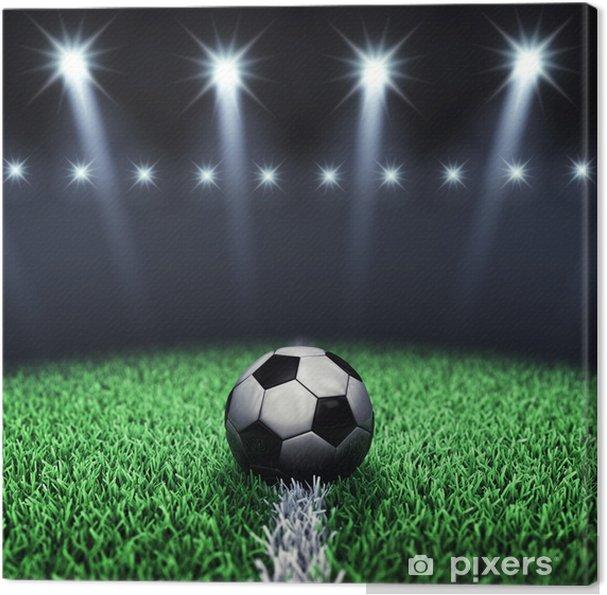 983bb2c65 Obraz na płótnie Piłka nożna piłkę z areny i reflektorów, Boisko do piłki  nożnej