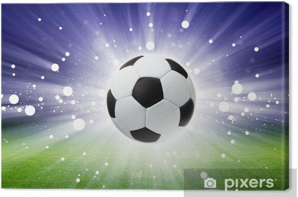 Obraz na płótnie Piłka nożna, stadion, światło -