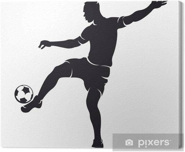 Obraz na płótnie Piłka nożna wektorowe (soccer) sylwetka gracza z kulowym odizolowanych - Inne uczucia