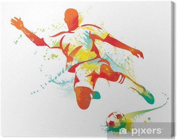 Obraz na płótnie Piłkarz kopie piłkę. ilustracji wektorowych. - Przeznaczenia