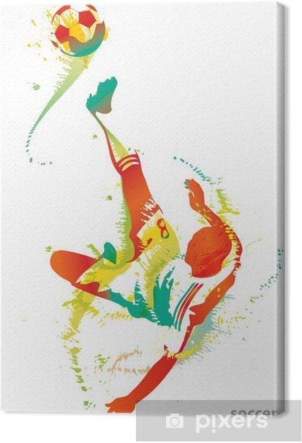 Obraz na płótnie Piłkarz kopie piłkę - Sporty drużynowe