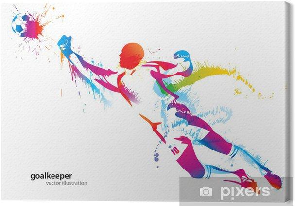 Obraz na płótnie Piłkarz łapie piłkę - Przeznaczenia