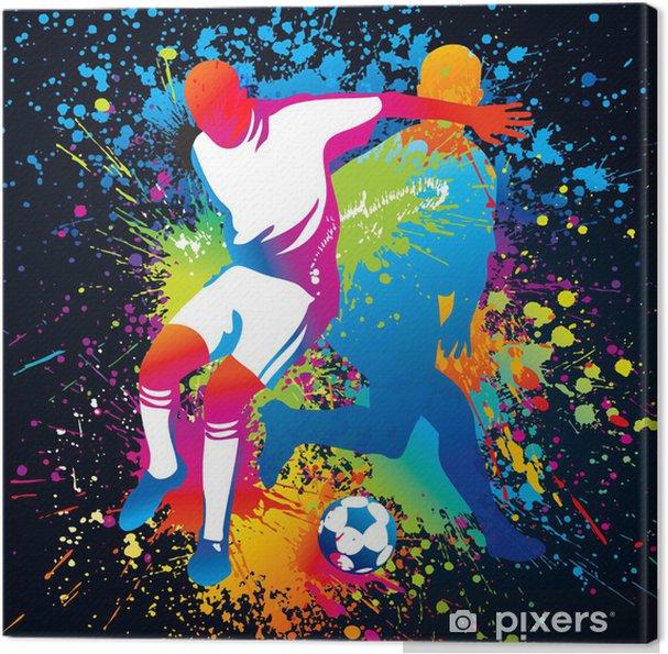 Obraz na płótnie Piłkarze z piłką nożną - Dla ucznia