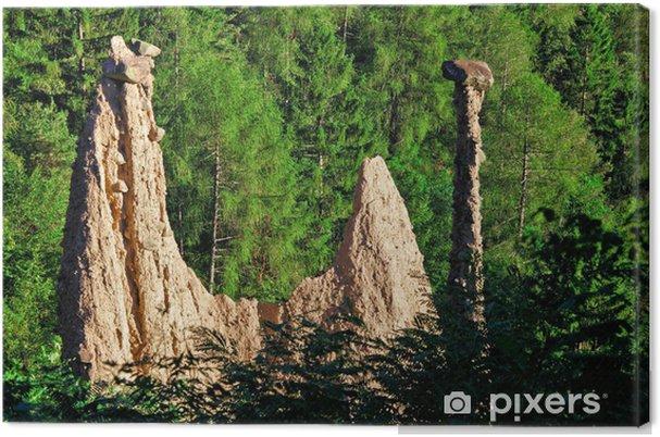 Obraz na płótnie Piramida Segonzano - Góry