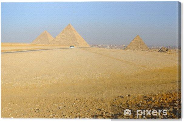 Obraz na płótnie Piramidy w Gizie w Egipcie - Afryka