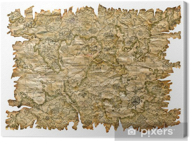 Obraz na płótnie Pirat mapę - Ezoteryka