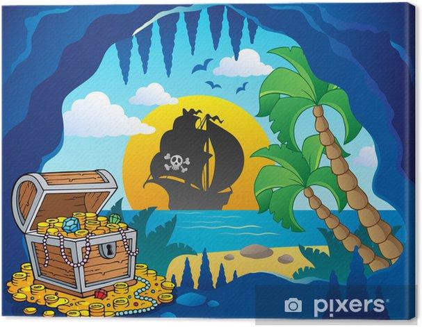 Obraz na płótnie Pirate motyw obrazu cove 1 - Przeznaczenia