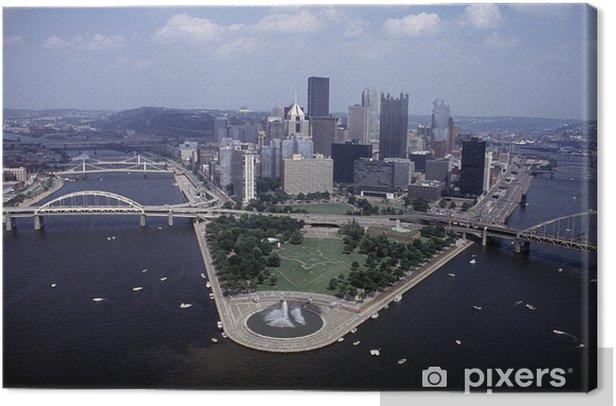 Obraz na płótnie Pittsburgh5 - Pejzaż miejski