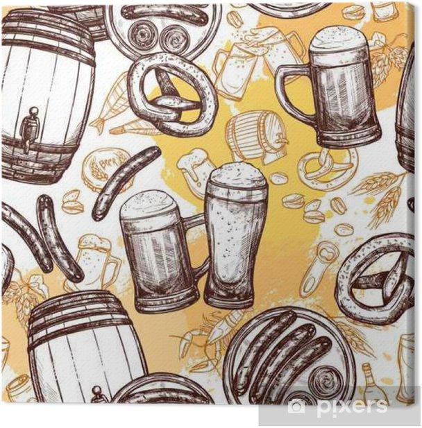 Obraz na płótnie Piwo bez szwu - Jedzenie