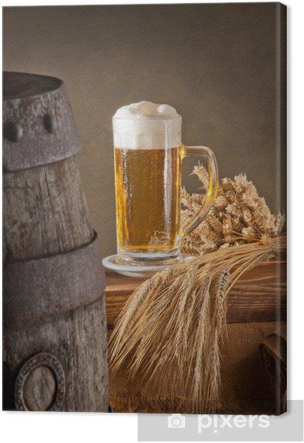 Obraz na płótnie Piwo - Posiłki