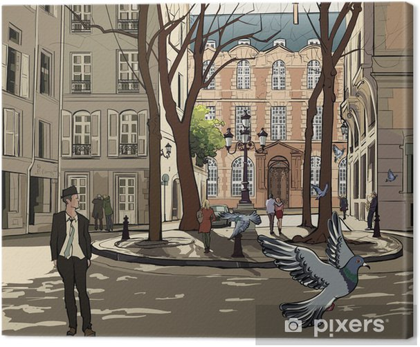 Obraz na płótnie Plac furstemberg w Paryżu - Tematy