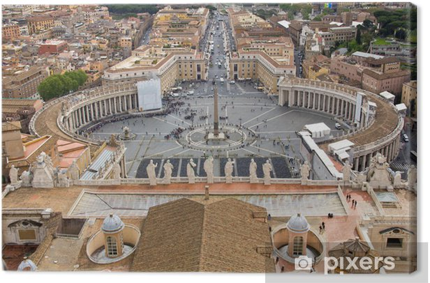Obraz na płótnie Plac Świętego Piotra - Rzym - Wakacje