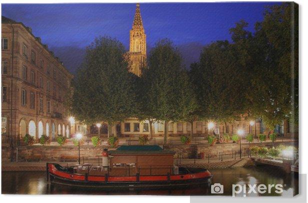 Obraz na płótnie Place du Marche au Poisson, Strasburg, Francja - Europa